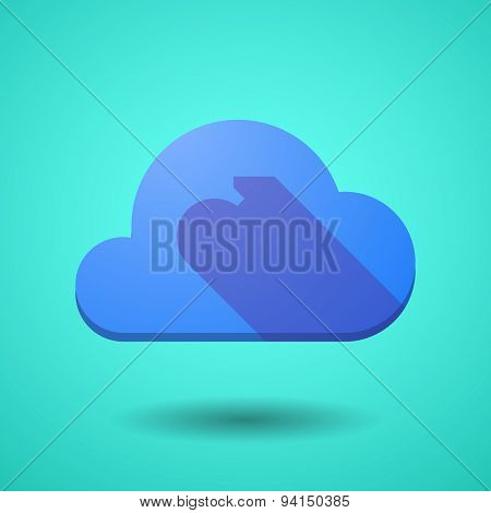 Cloud Icon With A Dart Board