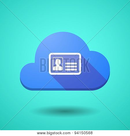 Cloud Icon With An Id Card