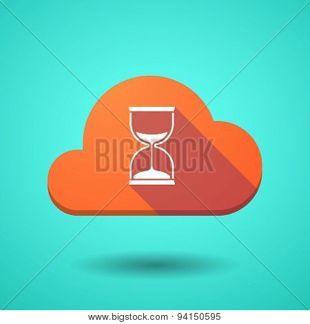 Cloud Icon With A Sand Clock