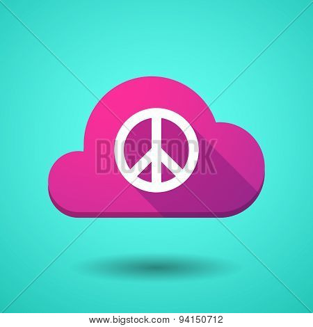 Cloud Icon With A Peace Sign