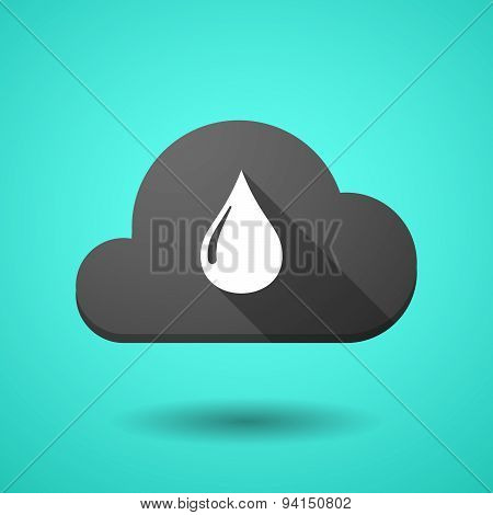 Cloud Icon With A Fuel Drop