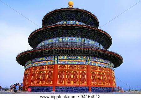 The temple of heaven in a clear sky, Beijing