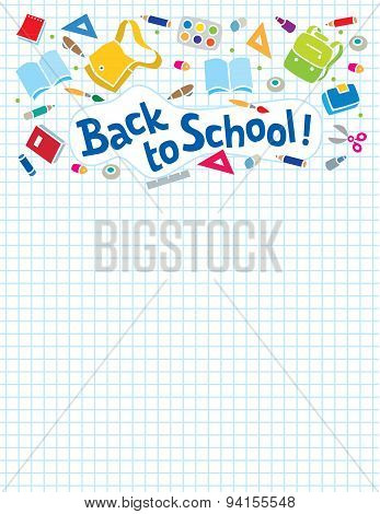 Back to school lettering or design template