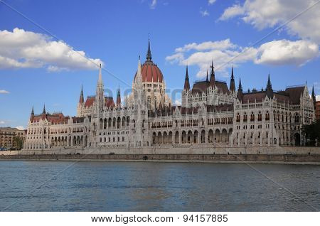 The Bulgarian Parliament Over The Danube In Budapest
