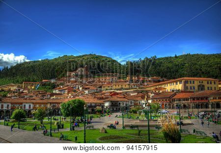 The City Cinter Of Cusco, Capital Of The Incan Empire, Peru In Hdr