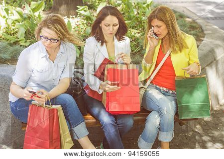 Shopping Female Friends