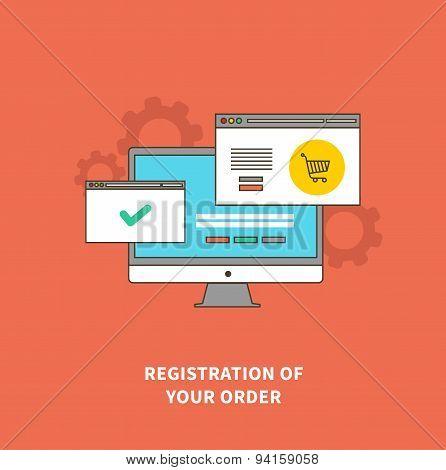 Concept Online Shopping, Registration of Order