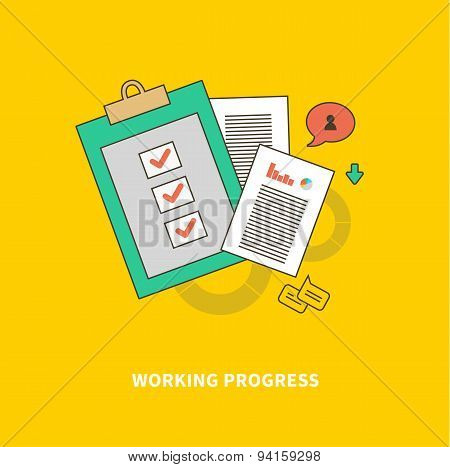 Stage of Business Process is Working Progress