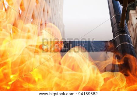 Fire against wall street