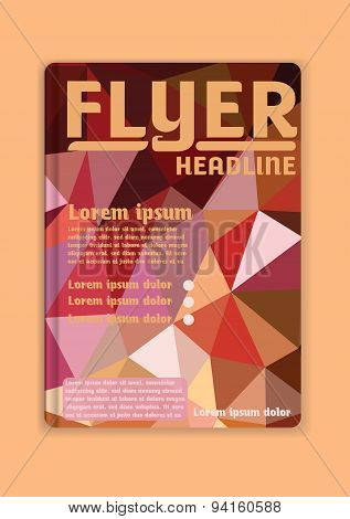 Flyer Graphic Design Low-poly  Color Abstract