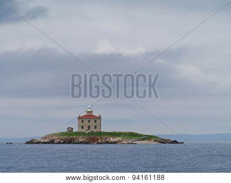 Trstenik island in the Mediterranean
