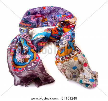 Fashionable female scarf isolated on white