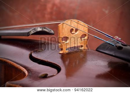 Vintage Violin With String