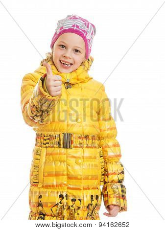Girl in autumn coat and hat