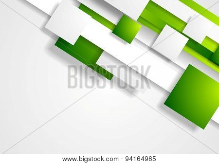 Geometric tech corporate background with squares. Vector design
