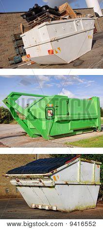 Recycle Industrial Dumper Skip Outdoors
