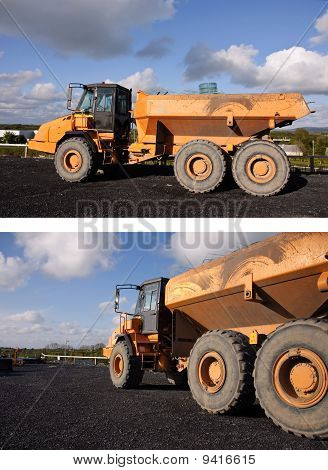 Large Industrial Yellow Dumper Truck Dipper