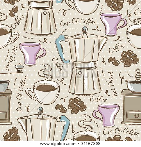 Background With Coffee Set
