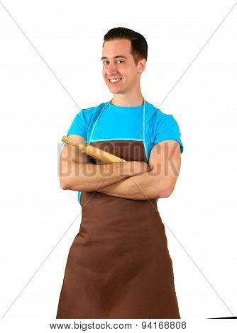 Dad cooks
