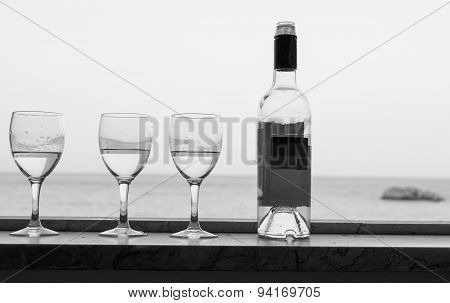 Bottle And Glasses