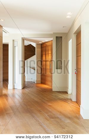 Architecture, empty modern house, wide hall