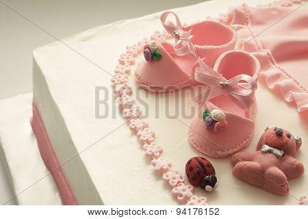 Sugar Shoes On Birthday Cake