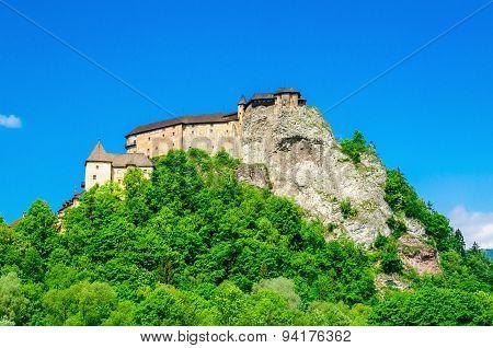 Orava Castle beautiful Slovak Hrad, Slovakia