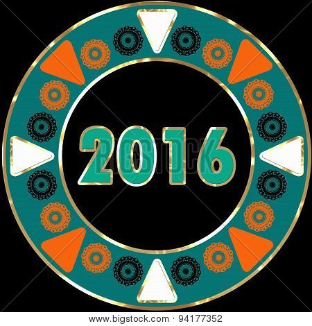 Creative Happy New Year Greeting Design Plate Design