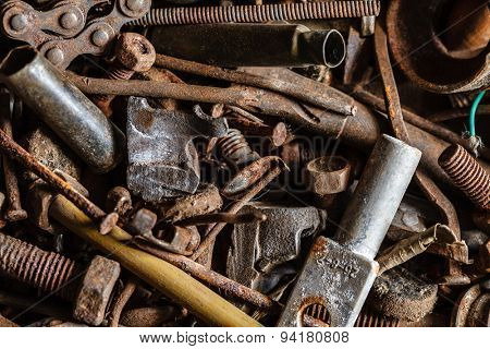 old and rusty hand tool