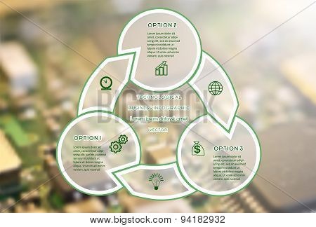 Technological Business Infographic Three Positions