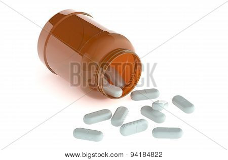 White Pills Redischarge From Pill Bottle