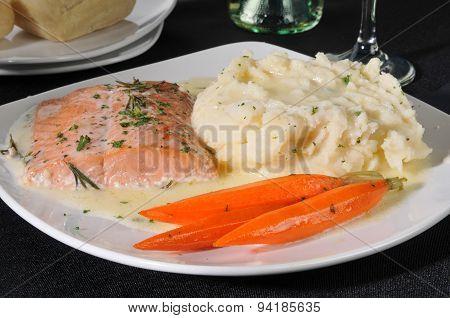 Baked Salmon Dinner