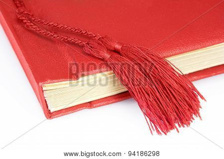 Antique Red book with tassel