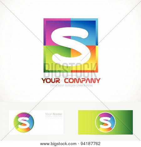 Letter S colors logo