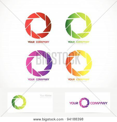 Photography camera shutter aperture logo