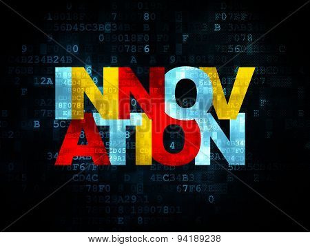 Finance concept: Innovation on Digital background