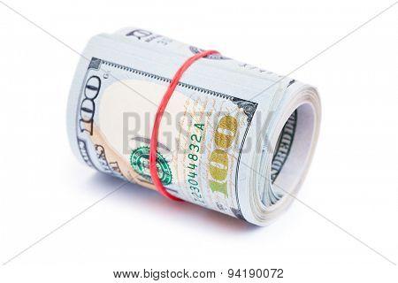 new 100 dollar bills close up