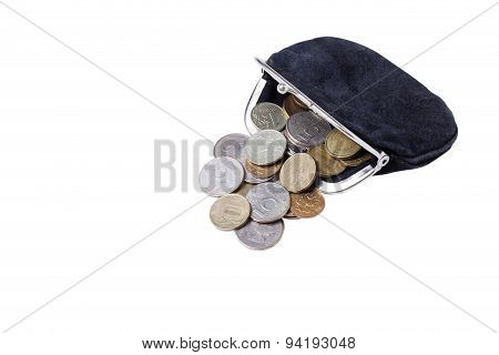 Open Purse With Coins