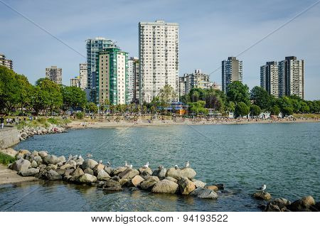 Beach at English Bay in Vancouver, BC