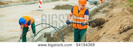 Digging In The Electrical Cables