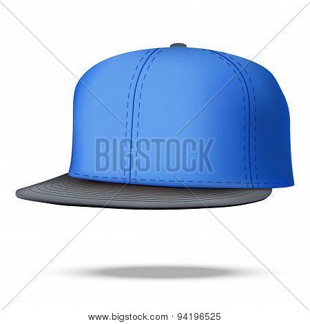 Layout of Male color rap cap. Vector illustration