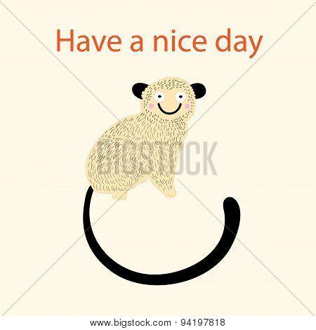 Beautiful Cheerful Monkeys