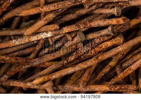 Pile of rusty nails