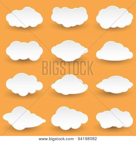 Vector Set Icon Messages in the form of Clouds. Illustration.
