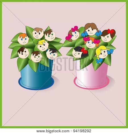 Children, Life Flowers.