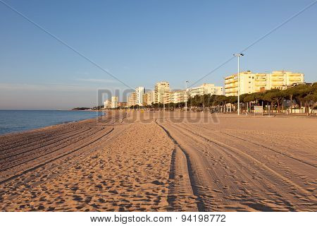Beach In Platja D'aro, Spain