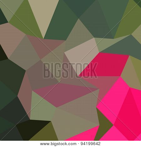 Cerise Red Green Abstract Low Polygon Background