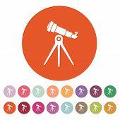 stock photo of spyglass  - The telescope icon - JPG