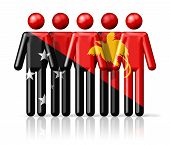 picture of papua new guinea  - Flag of Papua New Guinea on stick figure  - JPG