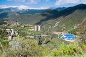 picture of armenia  - bridge across the gorge in the mountains of Armenia - JPG